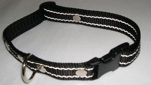 Reflexhalsband svart 20mm