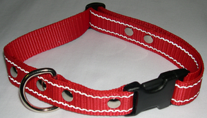 Reflexhalsband rött 25mm