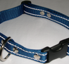 Reflexhalsband blått 25mm