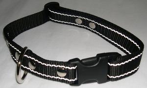 Reflexhalsband svart 25mm